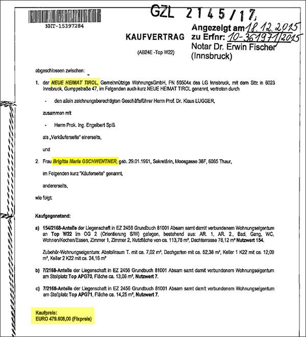 Die Tiwag Org Neue Heimat Chef Hannes Gschwentner Baut Sich Eine